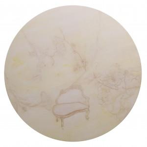 作者Gulistan古丽斯坦 作品名称《关于时间的传说系列之五》Tales of time(V)  年代2009   材质:油画Oil on Canvas  尺寸:80cm