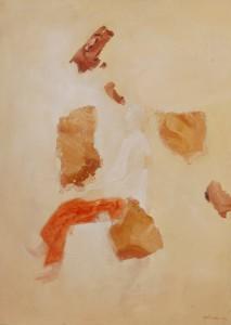 作者Gulistan古丽斯坦 作品名称《记忆的性质》Essence of Memony  系列   年代:2003  材质:布面油画Oil on Canvas   尺寸:60x70cm