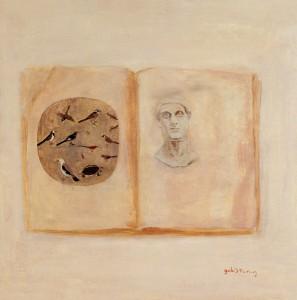 作者Gulistan古丽斯坦 作品名称《记忆的性质》Essence of Memony  系列   年代:2002  材质:布面油画   尺寸:77x76cm