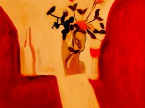 作者Gulistan古丽斯坦品名称《品-花语》A Taste of the Flower 年代:2006 材质:布面油画Oil on Canvas 尺寸:107x140cm